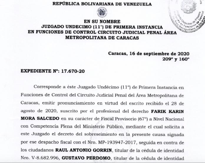 Sobreseimiento Gorrin PDVSA